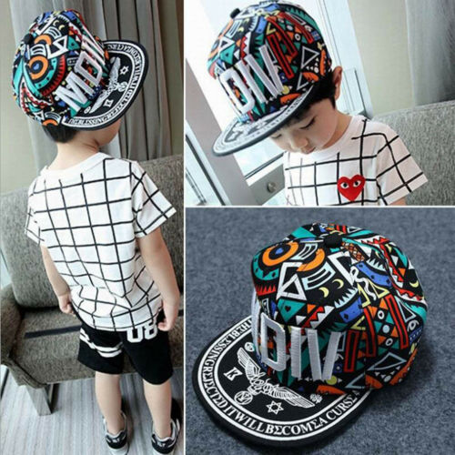 MDIV Embroidery Baseball Caps Kids Adults Matching Caps Boys Bboy Hiphop Hats
