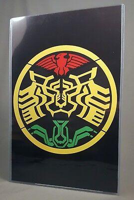 """OOO Tatoba Combo Poster /& Top Loader 17/"""" Art Print Masked Kamen Rider O-Medal"""