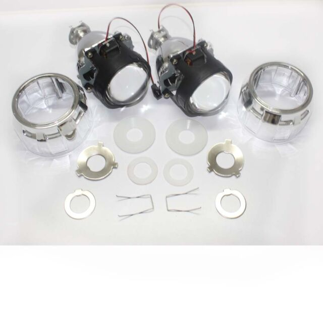 "2x 2.5"" Mini HID Bi-xenon Projector lens Kit HID Headlight with Shroud"