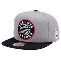 TORONTO RAPTORS Mitchell & Ness XL Logo 2 Tone Snapback NBA Hat 2Tone Snap Cap