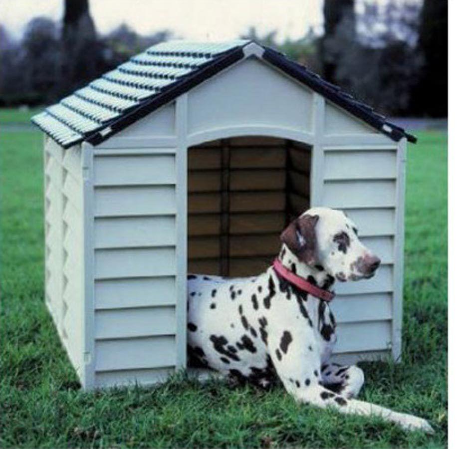 Cuccia per cani grandi 78X84X6080H DOG KENNEL resina impermeabile grigio verde
