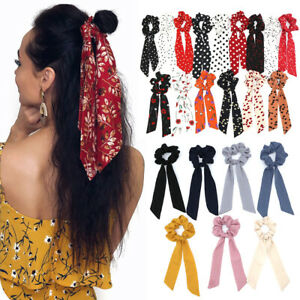 Women-Floral-Print-Scrunchie-Hair-Scarf-Elastic-Bohemian-Hairband-Rubber-Ropes