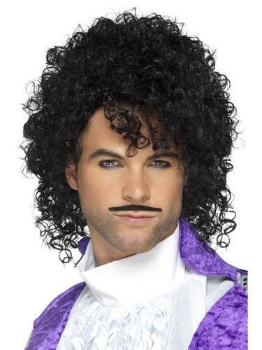 Anni 1980 Celebrity CANTANTE Parrucche Da Uomo Costume Rock Star Idol Adulti Costume Capelli