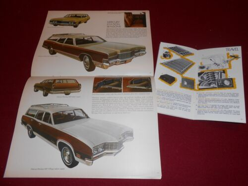 ACCESSORIES CATALOG COUGAR MONTEGO COMET MARQUIS Etc. 1971 MERCURY BROCHURE