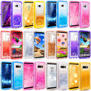 brand new 3395b 87be0 Details about For Samsung S8/S9+Plus Note 8/9 Liquid Glitter Case w/Clip  Fit Otterbox Defender
