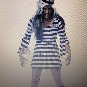 Image is loading SEXY-Womens-Blood-ZOMBIE-WALKING-DEAD-JAIL-PRISONER-  sc 1 st  eBay & SEXY Womens Blood ZOMBIE WALKING DEAD JAIL PRISONER Fancy Dress ...
