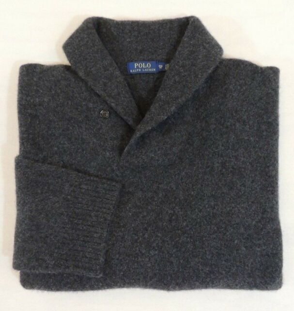 Polo Ralph Lauren Cashmere Merino Wool Shawl Collar Long Slv Classic Sweater 6XB