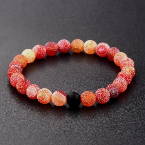 Couples His and Hers Bracelet Colorful Gem Agate /& Weathering Agate Bracelets