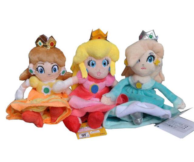 "8/"" Super Mario Bros Princess Peach Plush Doll Stuffed Animal Kid Christmas Toy"