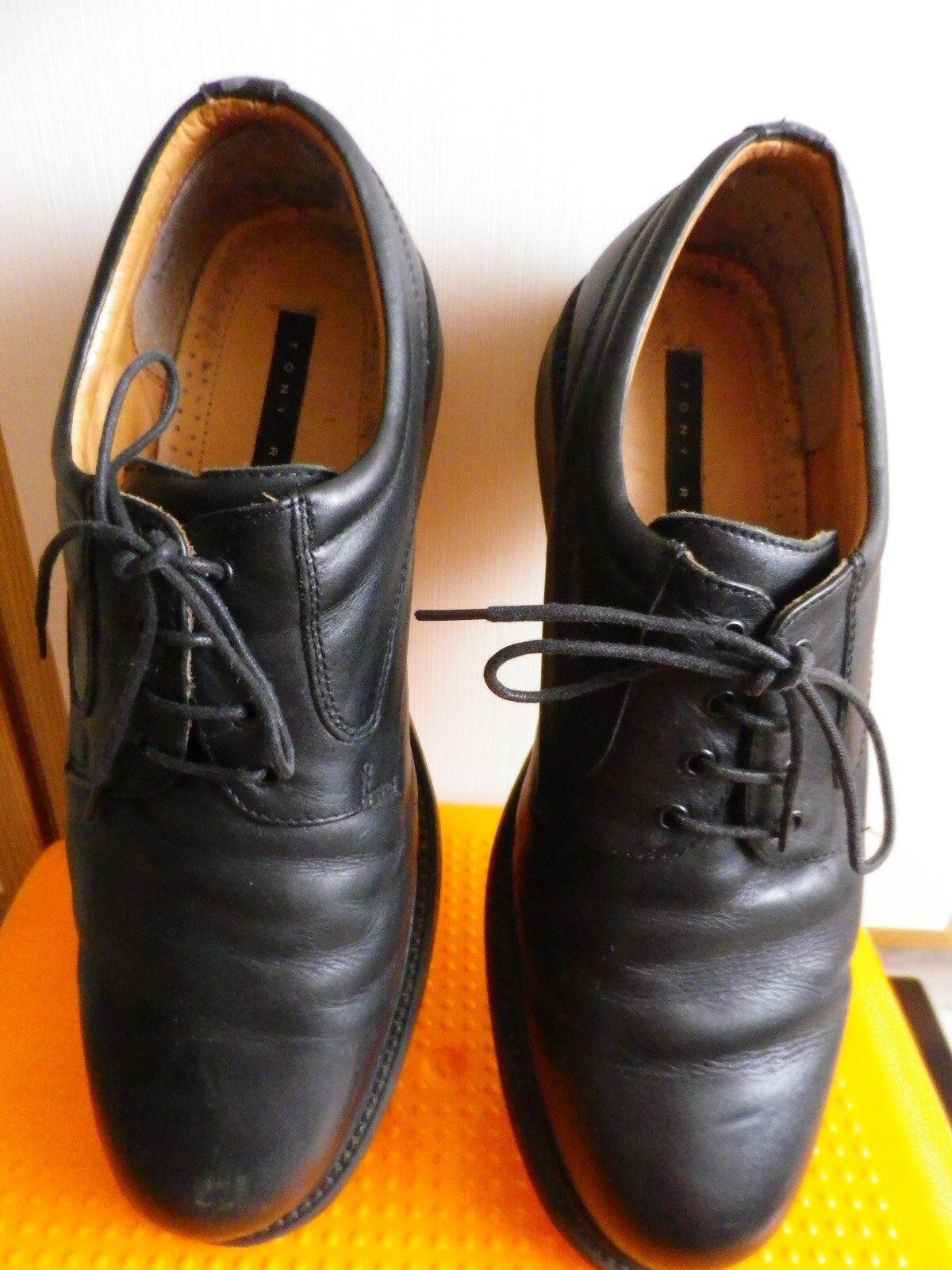 Tony Raff 44) Herrenschuhe Größe 45 (evtl. 44) Raff schwarz SH-04-06 Leder 31 cm Sohlenl. 439861