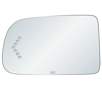 New Replacement Driver Side Mirror Heated Signal Glass W Backing Compatible With Avalanche Suburban 1500 Yukon XL 1500 Sold By Rugged TUFF