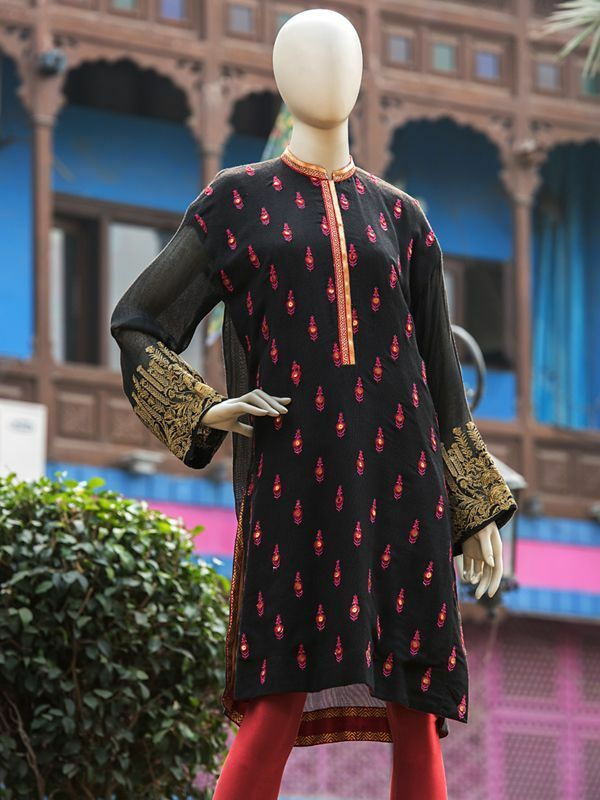 100% Original Designer JUNAID JAMSHED Ready to Wear EMBROIDERED Kurta KHAADI XL