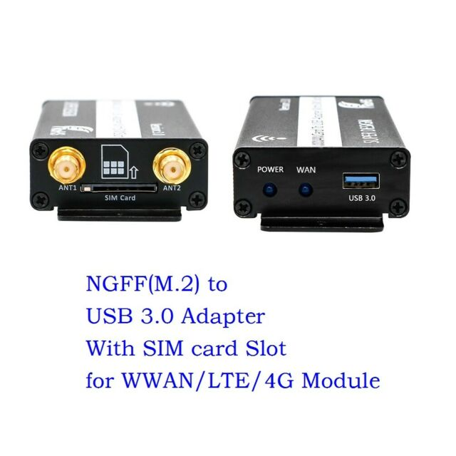 NGFF M.2 to USB 3.0 Adapter With SIM card Slot for WWAN/LTE/4G Module