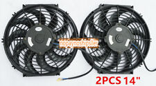 "2X 14"" INCH UNIVERSAL 12V PULL/PUSH CAR RADIATOR ENGINE COOLING FAN+MOUNTING"