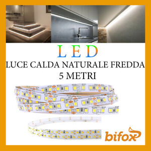 STRISCIA-600-LED-2835-STRIP-45W-12V-5-MT-SMD-BOBINA-ADESIVA-LUCE-ALTA-LUMINOSITA