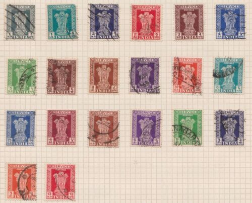 (OQ-72) 1912-63 India mix of 29stamps 3ps to 5R (F) mixed condition