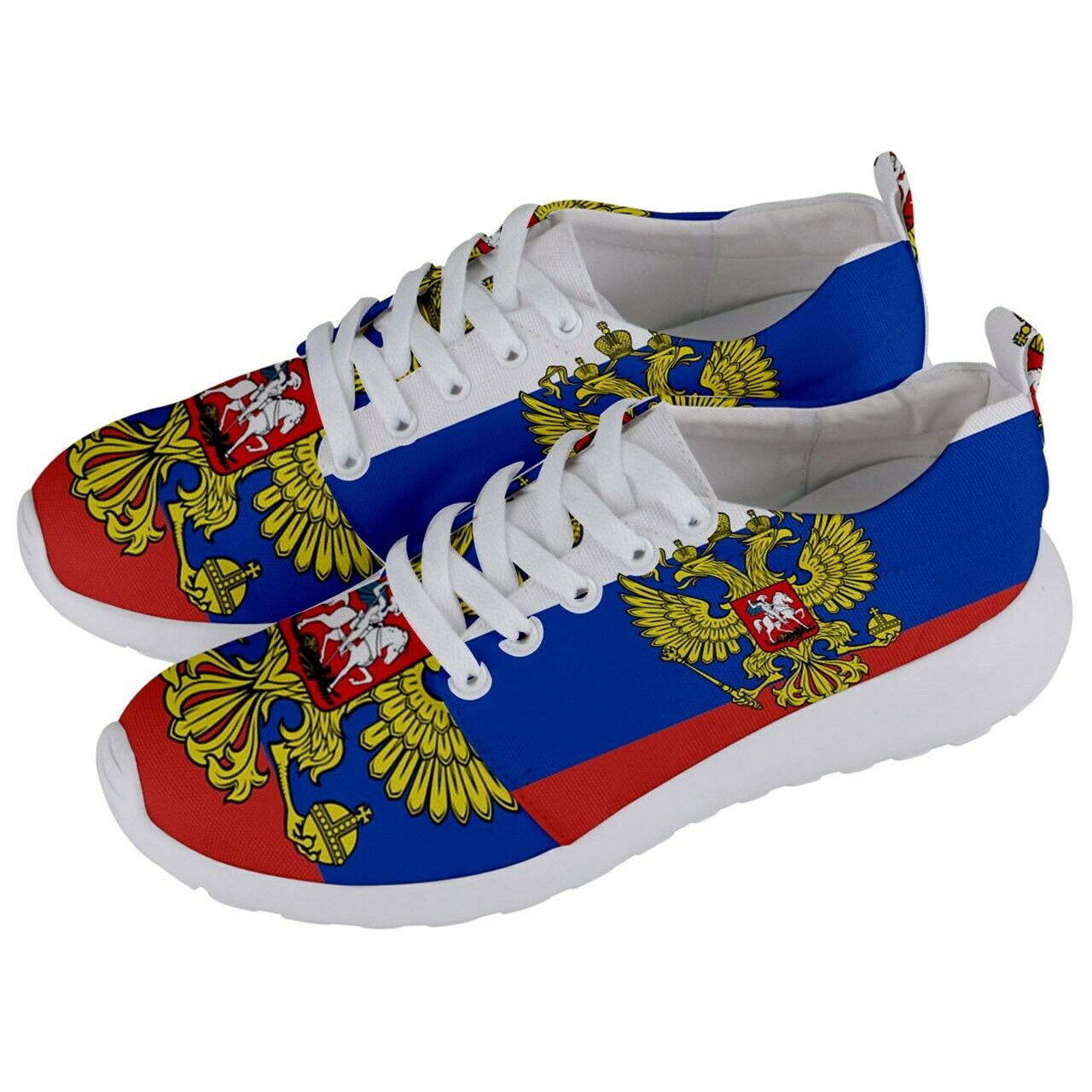 Russian federation Coat of Arms flag Men's Athletic Sports shoes Free Shipping