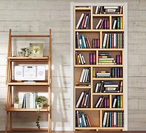 Details About 3d Bookshelf 73 Door Wall Mural Photo Wall Sticker Decal Wall Aj Wallpaper Uk