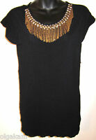 Alice + Olivia Embellished Black Tunic Sz S Authentic New$297 Great Deal