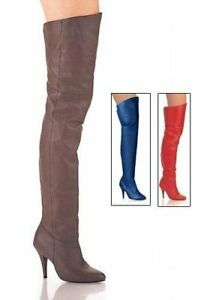 Pleaser-LEGEND-8868-4-Inch-Pull-On-Thigh-Boot-With-Elasticated-Gusset