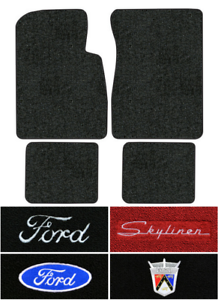 1957 1958 Ford Skyliner Floor Mats 4pc Loop Ebay