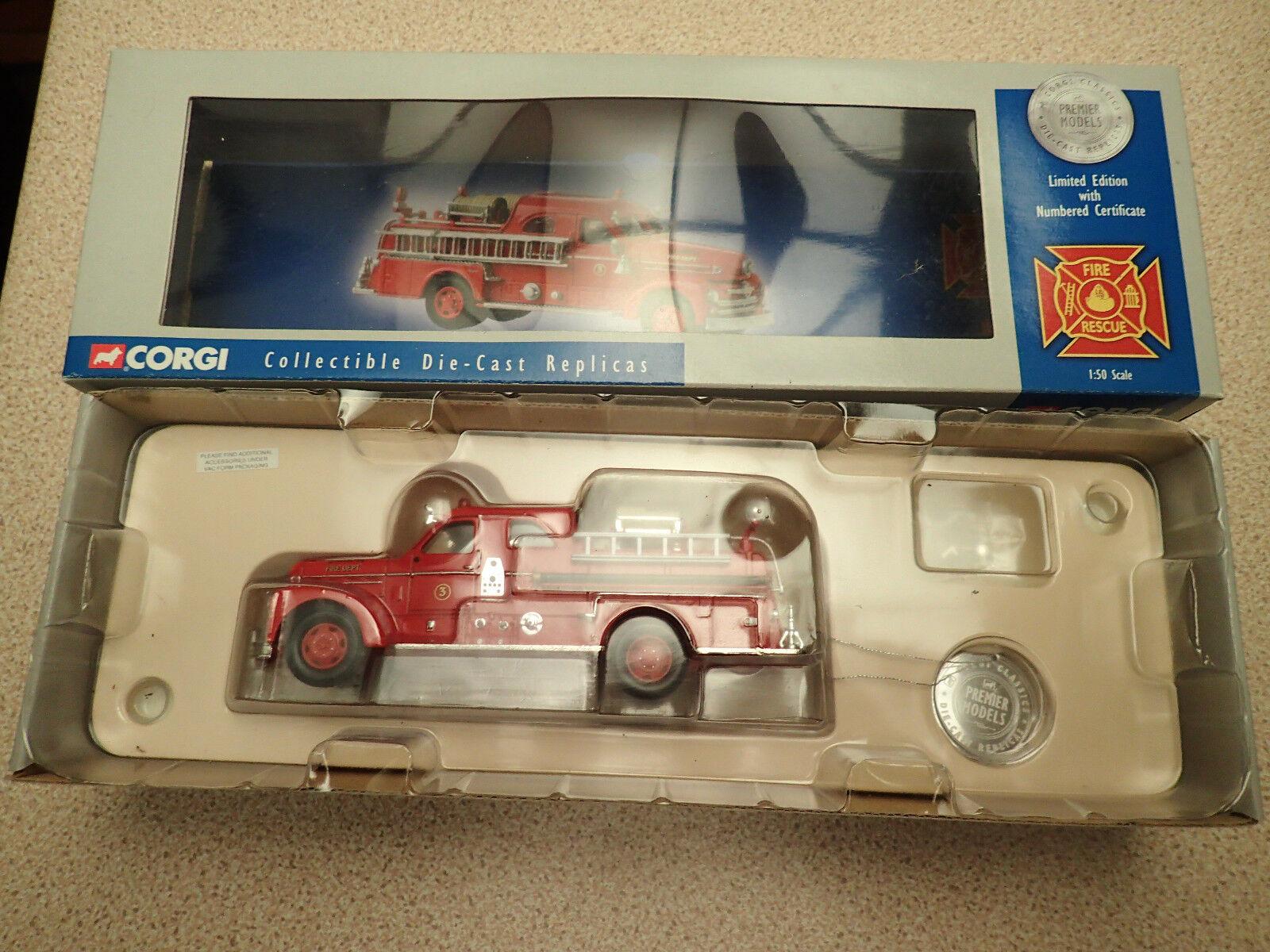 Ltd Edn Corgi Classics Fire Rescue 1 50 US50502 Seagrave Anniv Pumper Tampa MIB