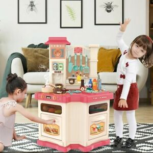Kitchen Play Set Pretend Baker Kids Toy Cooking Playset Food Little Bakers Pink Ebay