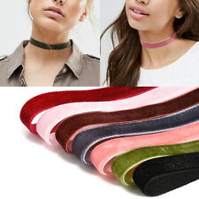 7Pcs/Set Velvet Choker Collar Pendant Necklace Gothic Punk Handmade Jewelry