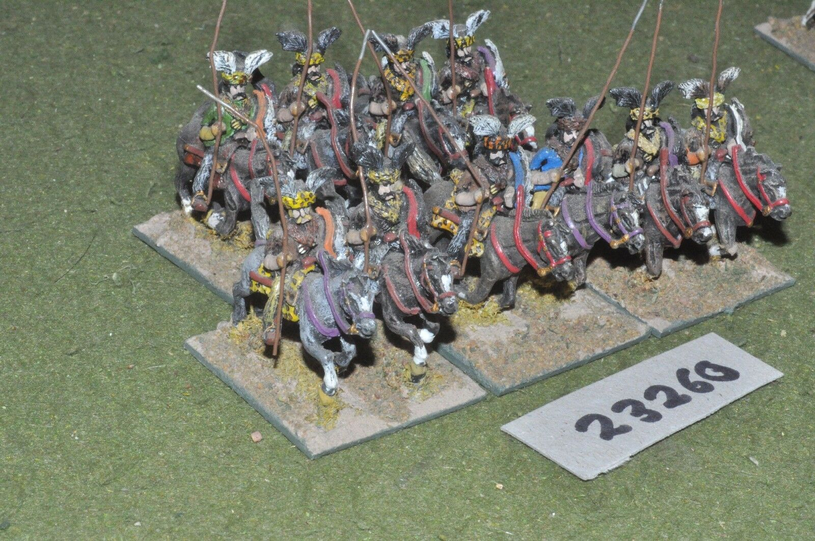 25mm renaissance   turkish - dellis 10 figures - cav (23260)