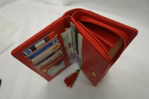 Ladies Purse Wallet Organiser Red With Many features with Message on the Purse