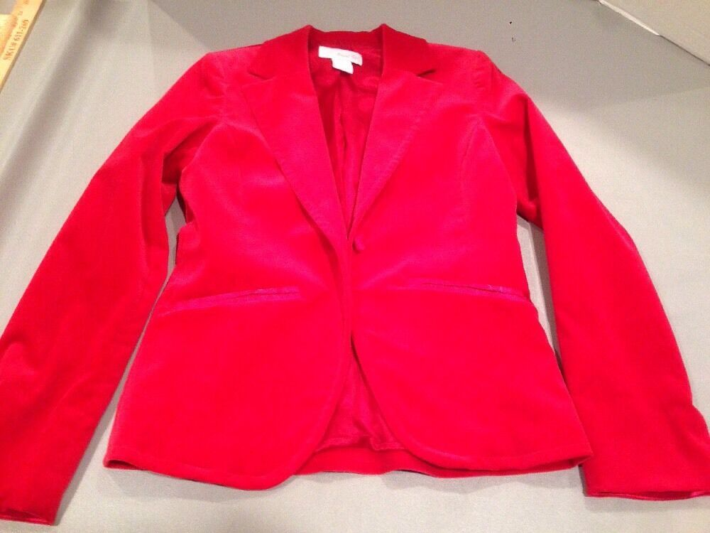Women's 4 Marshall Field's Red Velvet Blazer - image 11
