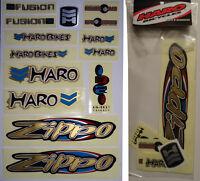 Haro Zippo Bmx Sticker Set - '90s Old School Freestyle Bmx Decal Set -