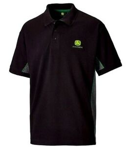 John-Deere-Men-039-s-Polo-Shirt-w-Contrast-Side-Panels