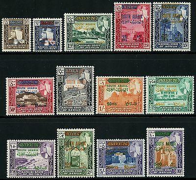 Aden Kathiri 1966 Freimarken/aufdruck 55-67 Moscheen Mosques Architektur Mnh Briefmarken Architektur