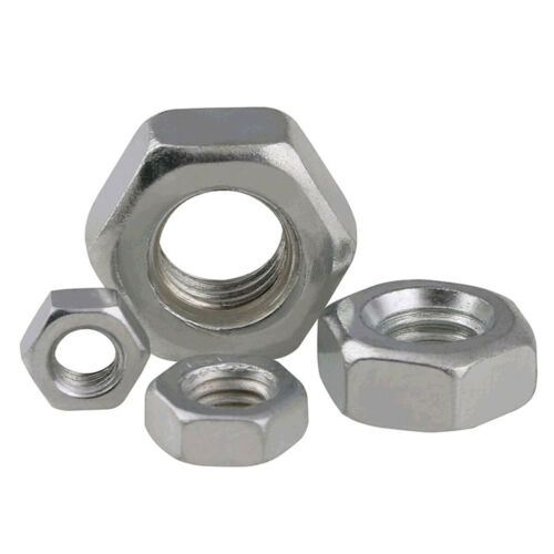 Zinc Plated Carbon 1//8 5//32 3//16 1//4 5//16 3//8 1//2 Hex Nut Hexagon Nuts BSW UNC