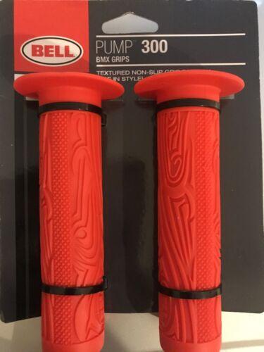 Bell Sports Pompe 300 BMX antidérapants texturé Guidon Poignées couleur rouge 300-01