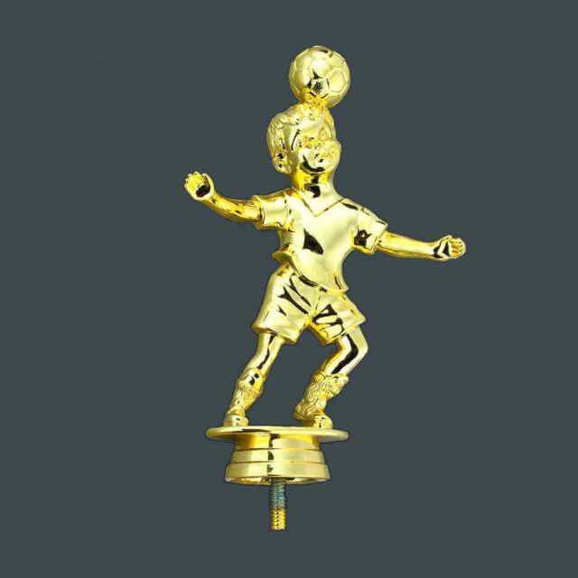 Fußball Figur Kids gold WM Preis Pokal Trophäe mit echter Gravur 15 cm