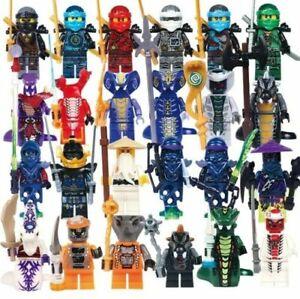 Ninjago-Ninja-Lot-24-Figures-Blocs-Ninja-Hero-Kai-Jay-Cole-Zane-Nya-Armes-Jouet