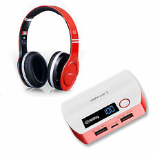 Miikey Bluetooth Wireless Stereo Headset + Portable Cell Phone Battery Charger
