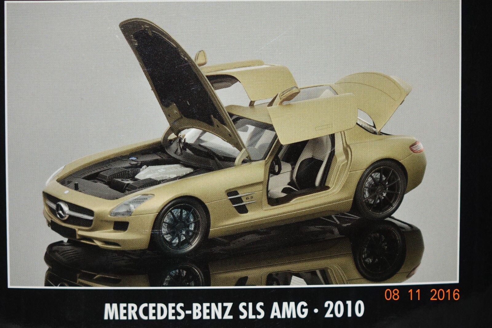 MERCEDES SLS AMG 2010 oro 1 18 Minichamps Nuovo & Ovp 100039024
