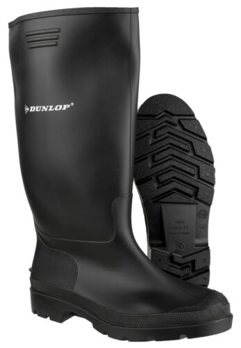 Dunlop Wellies Wellingtons Mens Womens High Calf Rain Muck Boots Shoes Size 5-13
