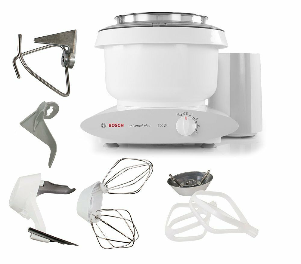 Bosch Mixer with Bowl Scraper & Cake Paddles w Metal Whip Drive