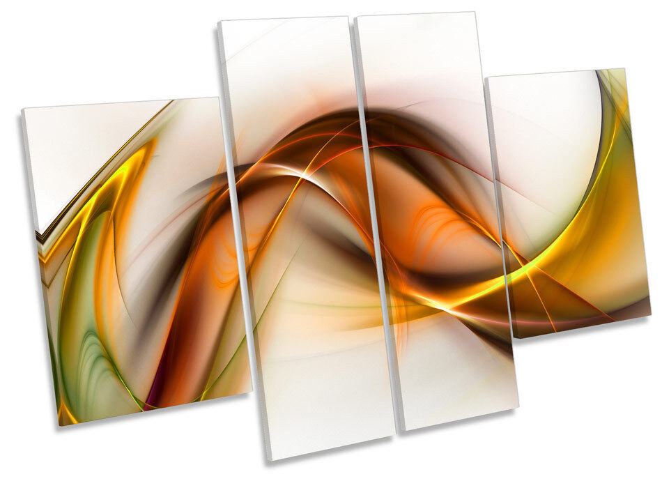 Abstract Enery Wave Modern CANVAS WALL ART MULTI Panel Print Box Frame