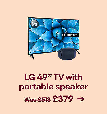 "LG 49"" TV with portable speaker £379"