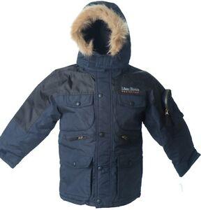 eaeebf272 Lion Force Boy s Parka Coat hooded Winter Jacket POLO fleece 2-tone ...