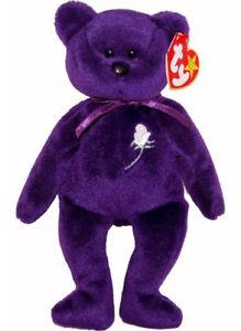 Princess-Diana-Beanie-Baby-Bear-1st-Ed-1-1997-PVC-China-MWMT-True-History-Here