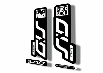 Rock Shox SID Brain ULTIMATE 2020 Mountain Bike Cycling Decal Sticker White