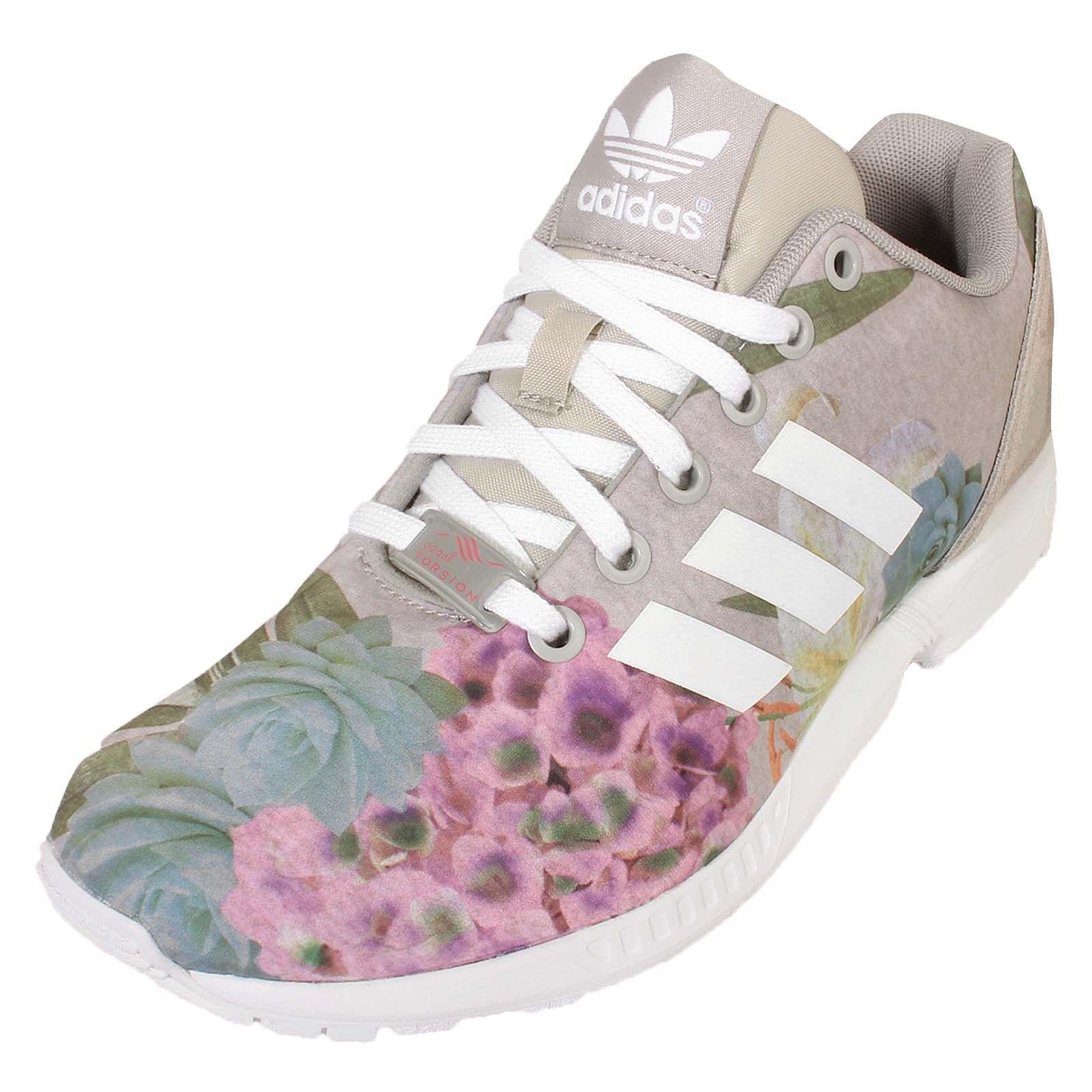 Venta de liquidación de temporada Mujer Adidas Zx Flux W Flores Zapatillas Sneakers Nuevo Y En Caja