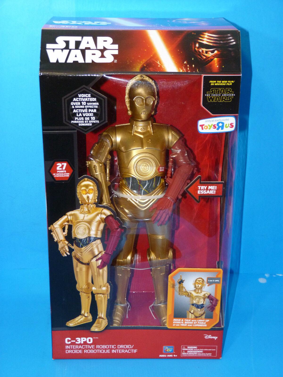 stjärnornas krig Deluxe samlaor s Edition C -3PO Talking Interactive Robotic Droid leksak