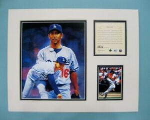 Los Angeles Dodgers Hideo Nomo 1995 Baseball 11x14 MATTED Kelly Russell Print